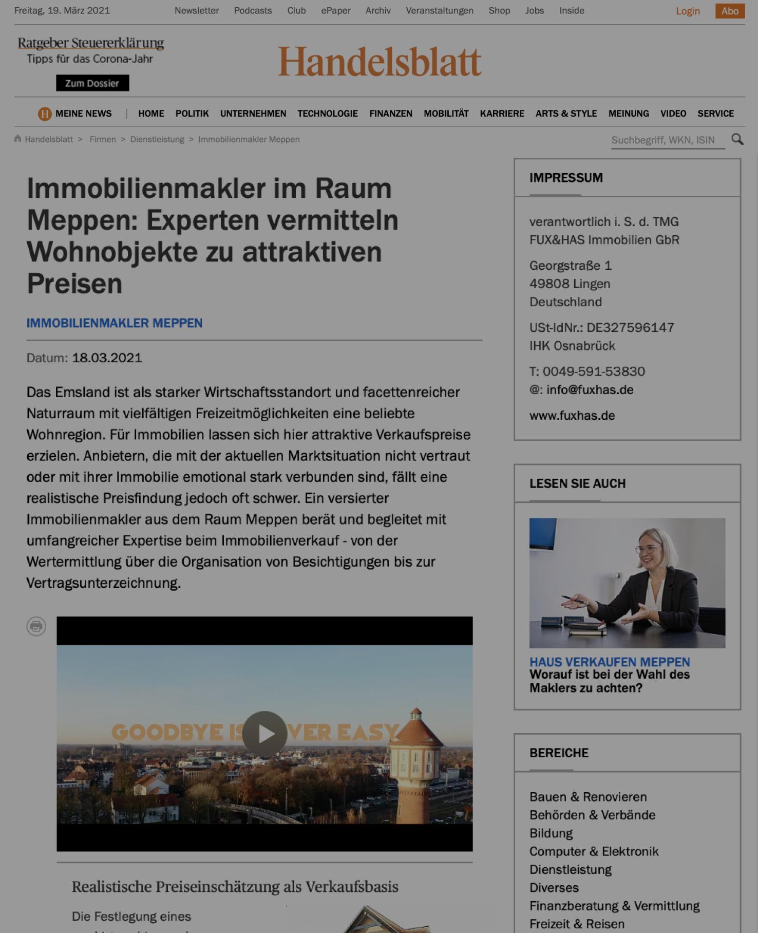 Handelsblatt Fux&has